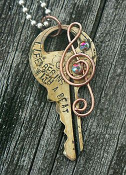 key pendant  @Blair Swogger Metal Stamping on keys! @traci Kay pryde I hope you see this