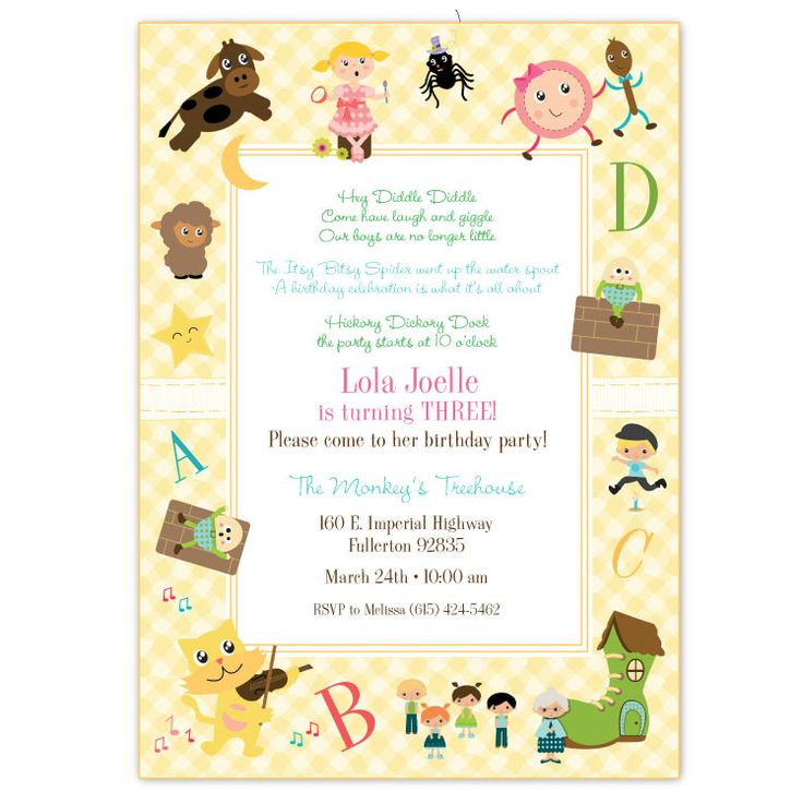21 best First Birthday Party- Theme Nursery Rhymes!!! images on ...