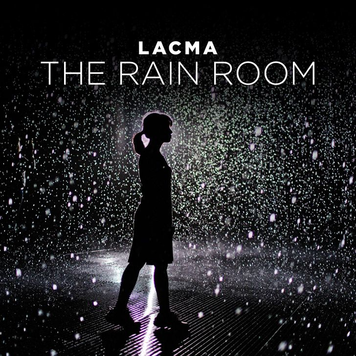 The LACMA Rain Room is an exhibit that combines art and technology and lets you walk in the rain without getting wet. You'll get some epic photos!