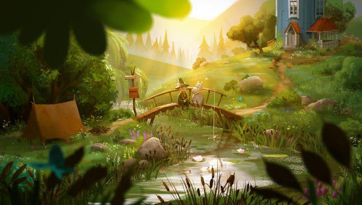 ArtStation - Moomin Valley, Tony Holmsten