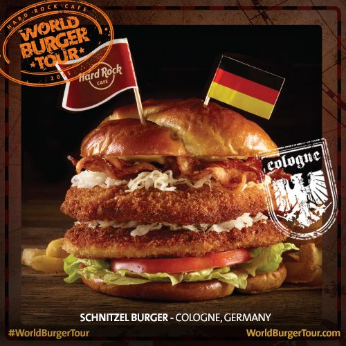 Cologne's culture is fused into this crazy delicious burger on a soft pretzel roll. Check out how it was created #WorldBurgerTour @HardRock