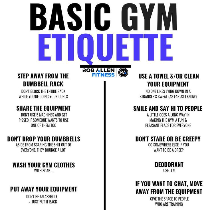 What is your biggest pet peeve at the gym? These are a few basic things to consider when you're at the gym. Sometimes they aren't super obvious to everyone so remember to be patient and understanding. Make sure you find out what the rules are at your gym and follow them. Very simple. There are many other unwritten rules at the gym and even sub categories (ie: when and how to give a spot) This stuff is part of the learning experience. Remember that treating people with respect is