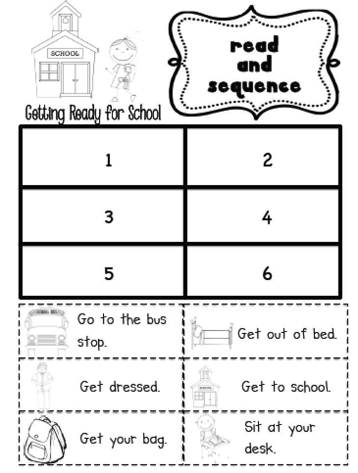 Sequencing Practice In Kindergarten And First Grade