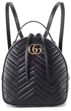83590dc0230 Gucci GG Marmont matelassé leather backpack