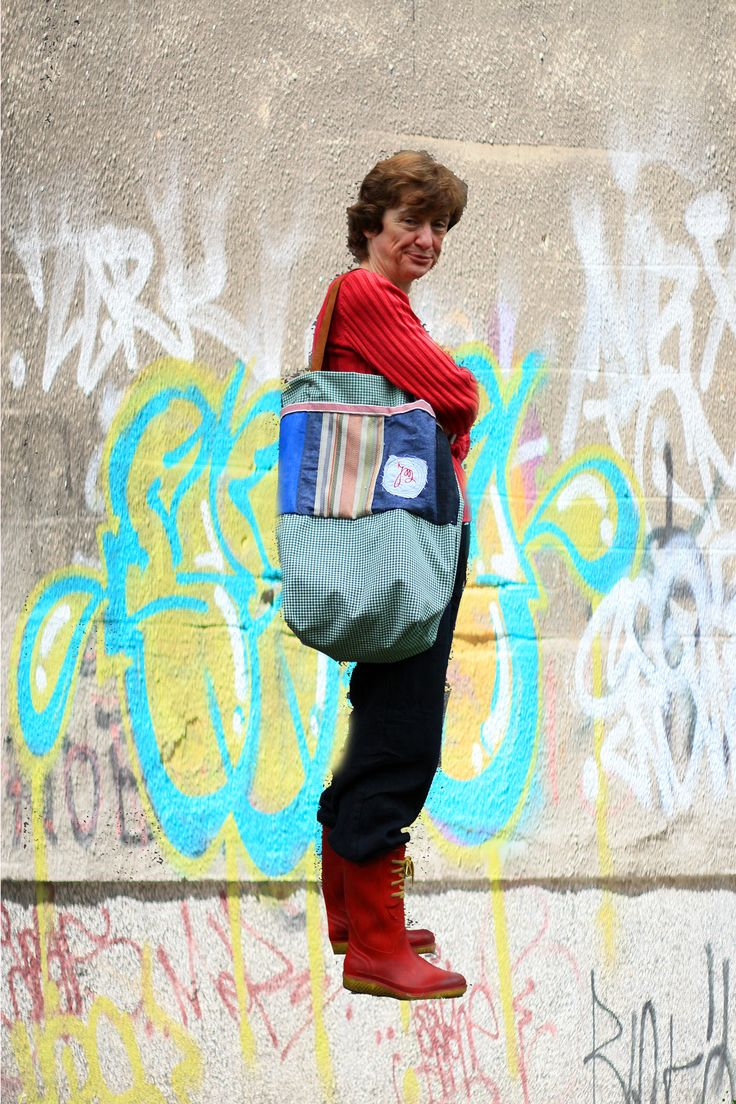 casual bag BONHEUR - city style, inner side with monogramme