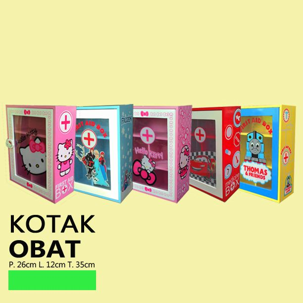 Kotak obat karakter tersedia dalam 5 pilhan motif dengan 4 karakter hello kitty, rozen, cars mcquenn dan thomas. IDR 150,000