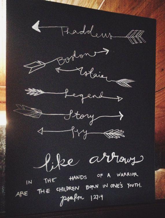 Arrow Names by adventuretype on Etsy