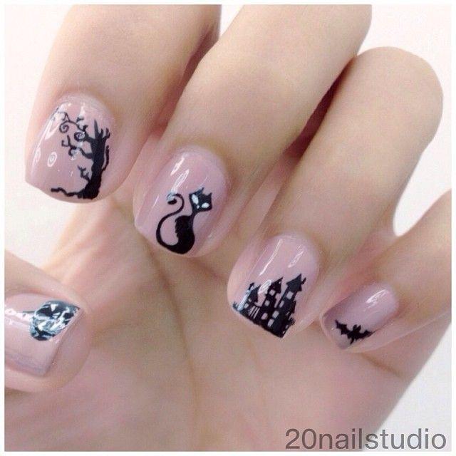 Amazing Black Cat Nail Art Designs Ideas 2014 2015 http . - 173 Best Halloween Nail Art Images On Pinterest Halloween Nail