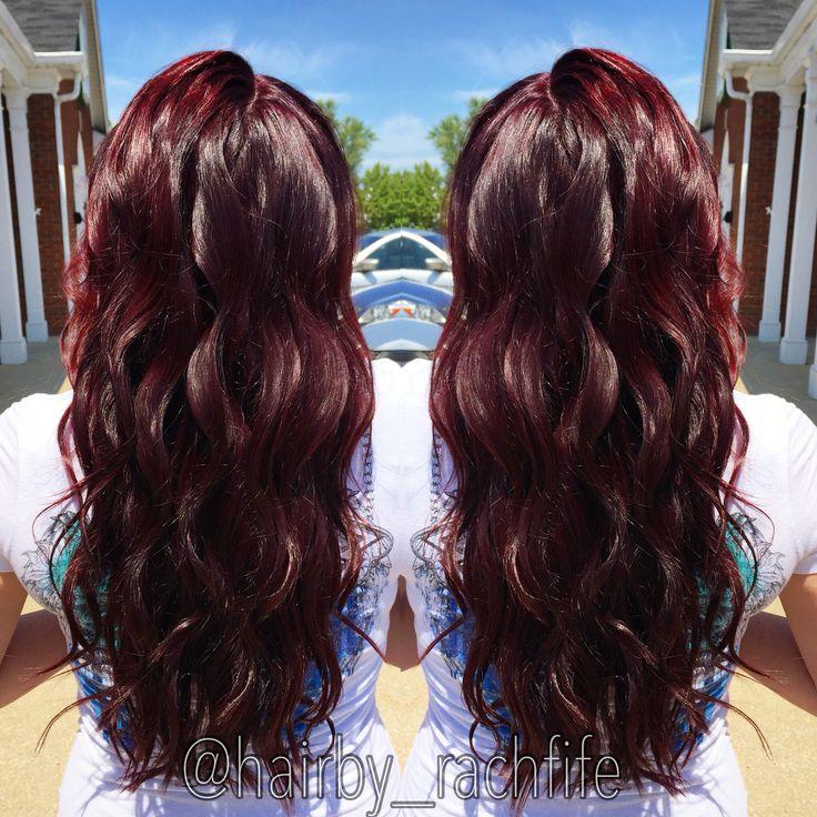 Red violet cherry cola hair. hair by Rachel Fife @ SF Salon