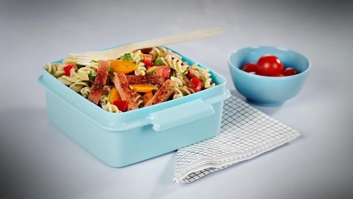 Falukorv pasta med grønnsaker