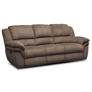 Omni Mocha Manual Reclining Sofa Home Decor Reclining