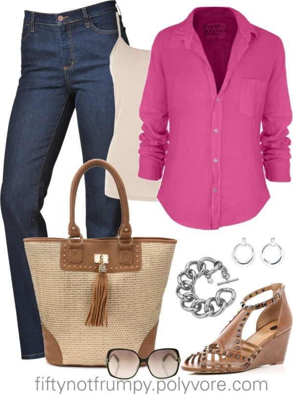 """Pretty in Pink"" by fiftynotfrumpy on Polyvore"
