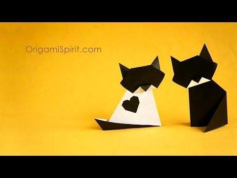 Gato en origami – Paso a paso para hacer dos gatos fáciles