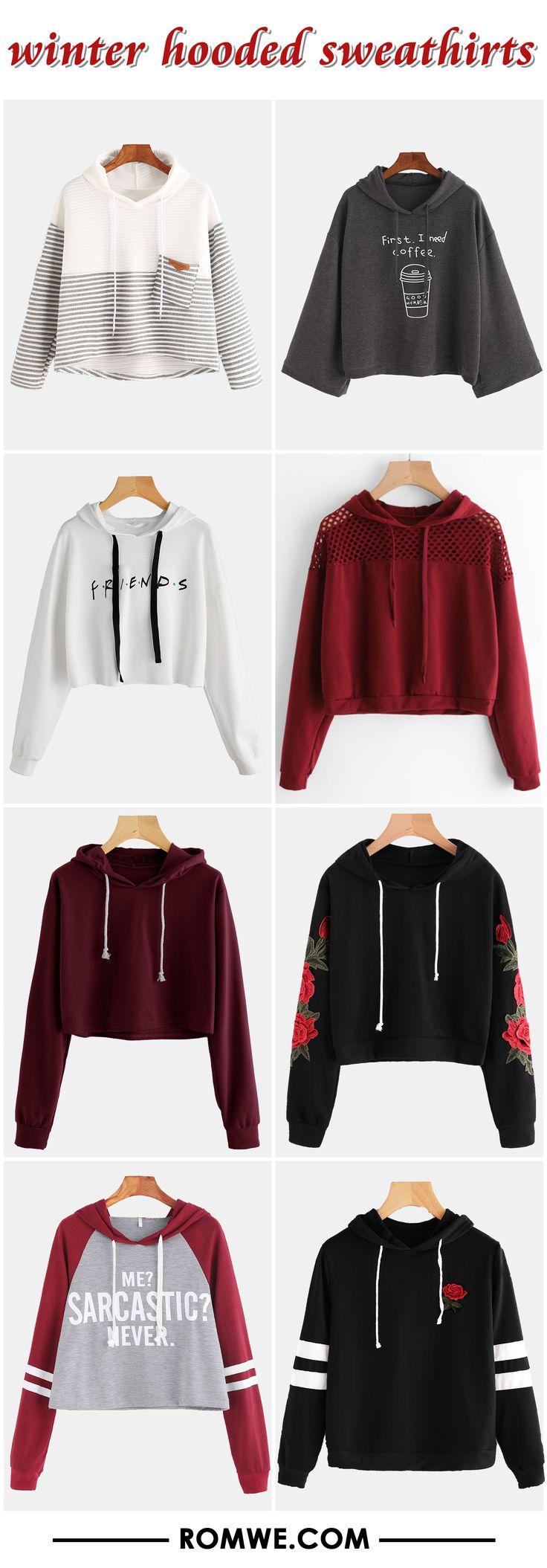 winter hooded sweatshirts - romwe.com