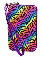 justice ipod cases for girls   NWT Justice Girls Multi Zebra Tech Wallet Case Phone Ipod MP3 Bag ...