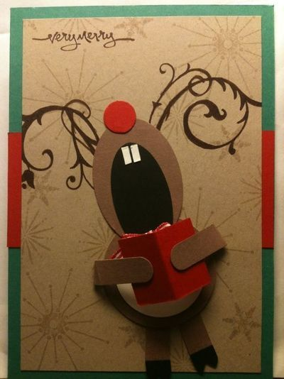 singing reindeer-you can just tell she is singing loudly and off key :)