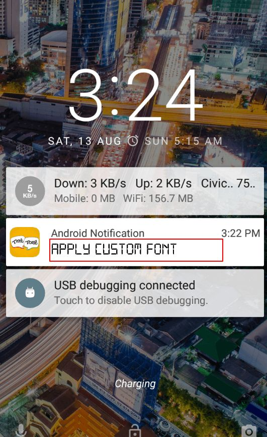 Android Tutorial: How to Apply Custom Font in Notification Title (RemoteViews)?