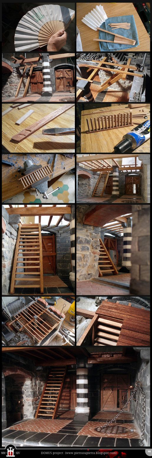 Domus project 103: Wooden staircase (from a fan) by Wernerio