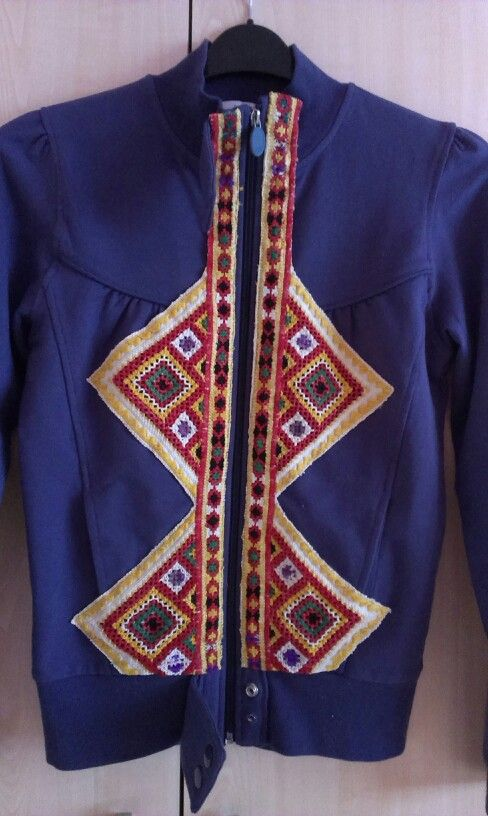 the folclore embroidery made by my grandmummy, original from Polomka, Slovakia, I used it for Kristna' s jacket