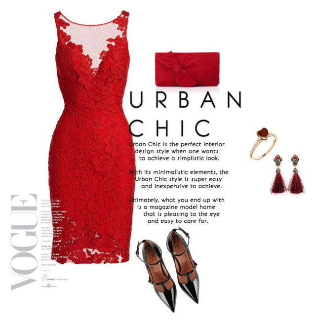 """Urban chic"" by eldar92 ❤ liked on Polyvore featuring ML Monique Lhuillier, RED Valentino and L.K.Bennett"