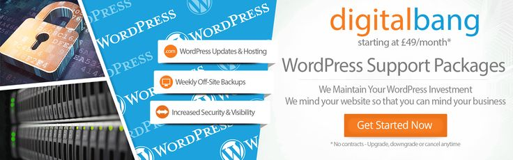 Maintenance packages for WordPress that keep your website up to date and virus free, so you don't need to worry. Get peace of mind on ☎ 020 3740 1468.
