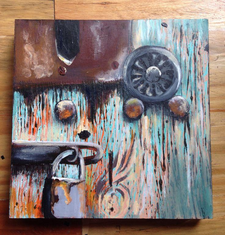 Doorknobs Oil on canvas