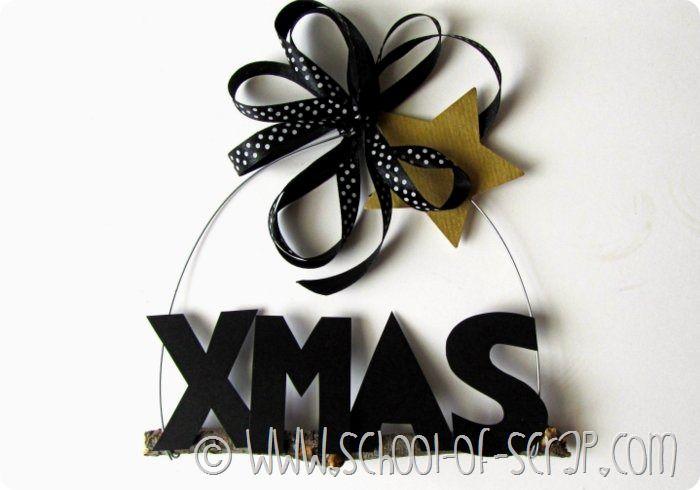 Come fare il fuoriporta di Natale con legnetti, fil di ferro e cartoncino