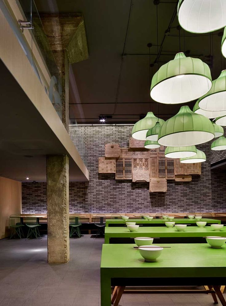 Mr Lee Noodle House :: Golucci International Design #green #accent #lime