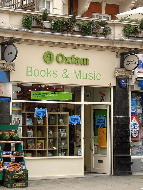 #Oxfam - always worth a browse, whether for clothing, vintage, books, music or fair trade foods: Vintage Books, Charity Shop, Bookshops Libraries, Bookshop Libraries, Oxfam Books, Books Music