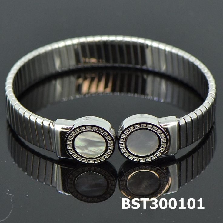 Fashion Stainless Steel Silvery Bangle Shell#BST300101