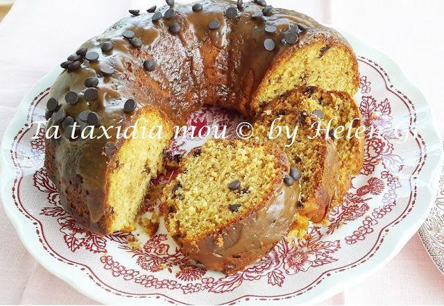 Κέικ με Αποξηραμένα Σύκα και Σάλτσα Καραμέλας - Dried Figs Cake with Butterscotch | Τα ταξίδια μου | Bloglovin'