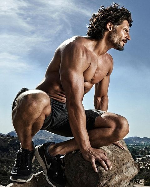 Joe Manganiello. Fine as hell!!! I really hate his girlfriend right about now.