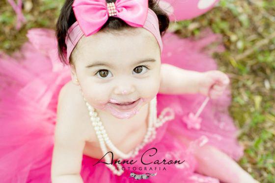 ensaio fotográfico bebê menina smash the cake; aniversário 1 ano bailarina; bolo cor de rosa; book no parque; Anne Caron Curitiba (4)