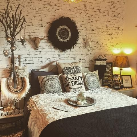 Bohemian style bedroom styled by Tropical Interiors.