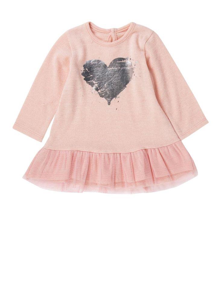 Heart Mesh Frill Dress