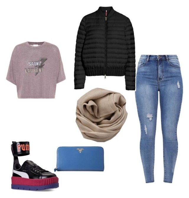 """😜"" by iuliacalin on Polyvore featuring Puma, Yves Saint Laurent, Prada, Moncler and Brunello Cucinelli"