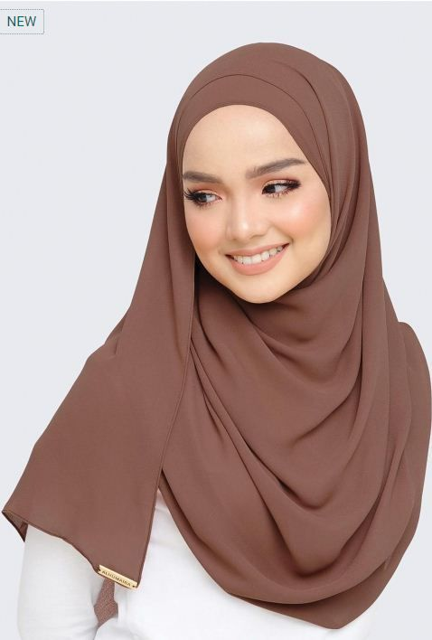 Basic Deluxe Plain Shawl Copper Spring by ALHUMAIRA