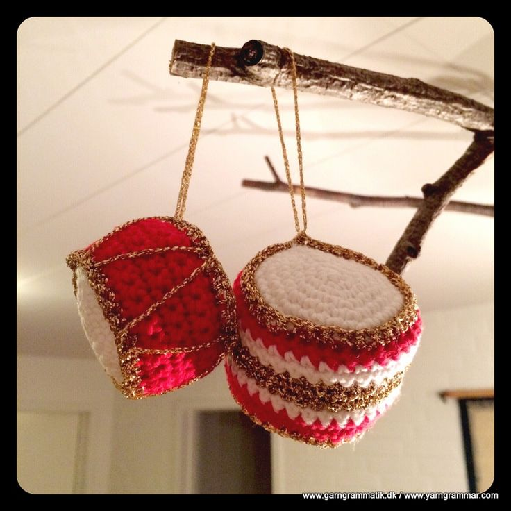 Hæklede juletrommer - Garn Grammatik