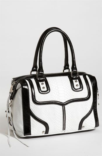 M.A.B. - Mini Snake Embossed Bombe Satchel