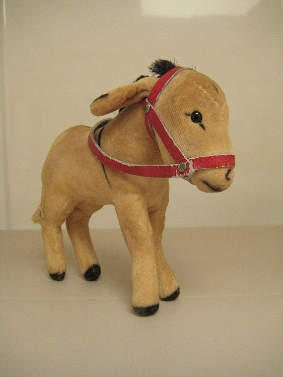 In my ETSY Shop: Steiff Vintage Velvet Donkey (Esel) ~  Born between 1950 and 1969 ~Excellent Condition!!