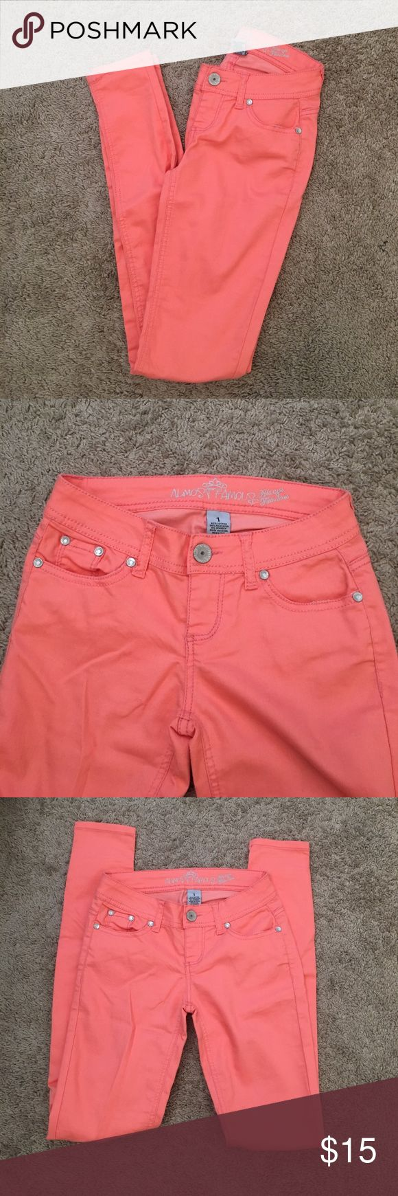 Salmon Pants Only worn once! No stains! Almost Famous Pants Ankle & Cropped
