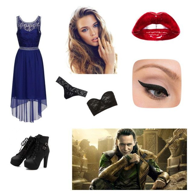 date with loki by daniellabramhall on Polyvore featuring Dorothy Perkins, Hanky Panky, Topshop and LORAC