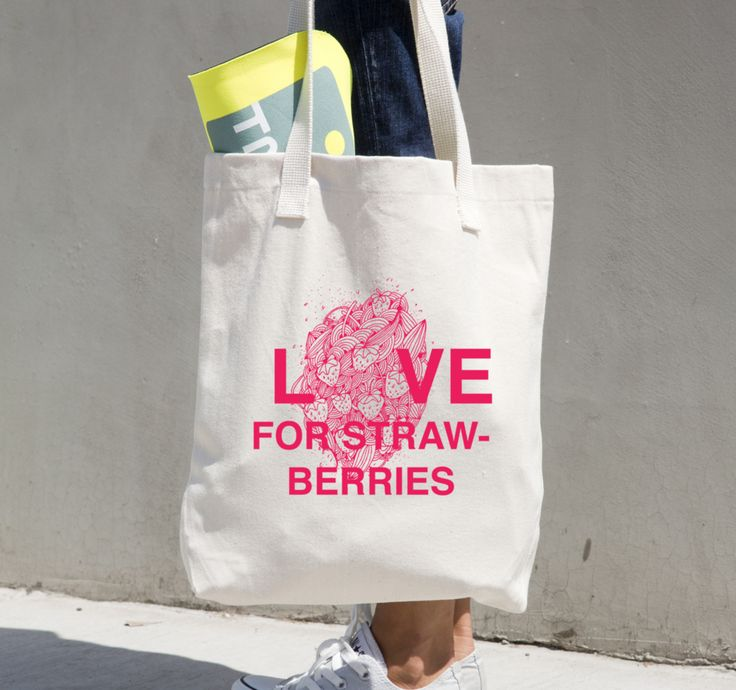 Love for Strawberries - Tote