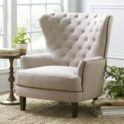 tufted wingback chair google search