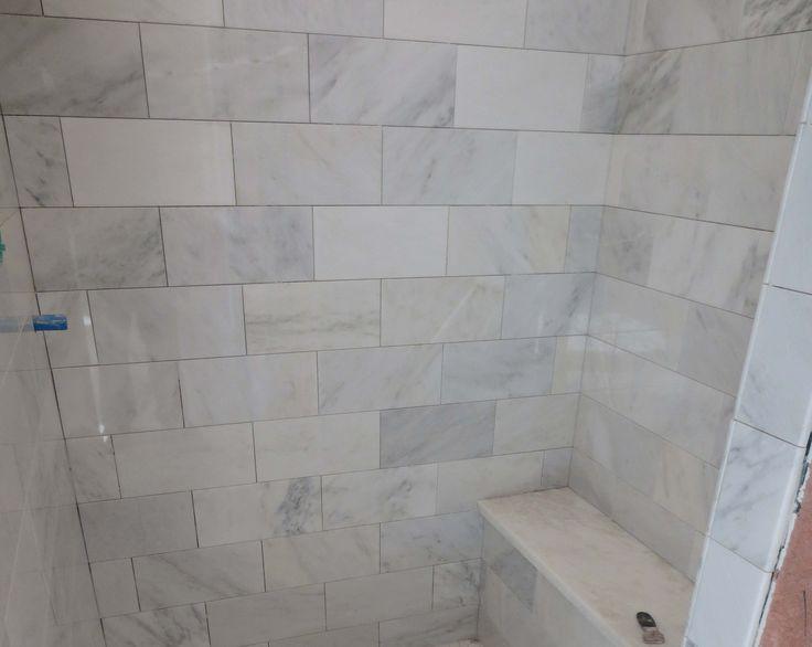 The Marble Carrara Tile Bathroom Part 3 Close Up Look