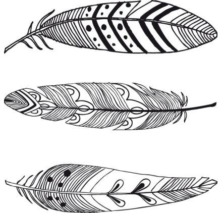 Tampon bois 'Aladine' Plumes d'oiseaux