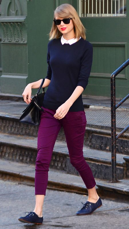 No matter your age, this outfit idea on Taylor Swift is timeless yet trendy.