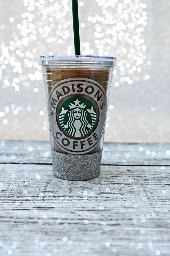 Personalized glitter starbucks tumbler custom starbucks for Starbucks personalized tumbler template