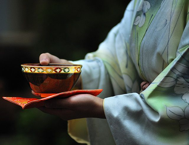 Buddhist Ceremony Traditional Japanese Garden: Japanese Tea Ceremony. The First Documented Evidence Of