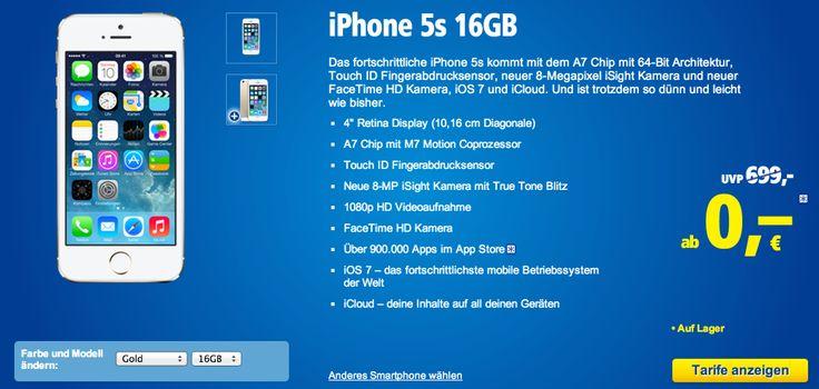 Kostenloses iPhone 5s bei 1&1 (iPhone mit Vertrag)! - http://apfeleimer.de/2014/01/kostenloses-iphone-5s-bei-11-iphone-mit-vertrag - Ein kostenloses iPhone? 1&1 bietet aktuell das iPhone 5s mit Vertrag zum Preis von NULL Euro an! Richtig gehört – das Apple Smartphone geht kostenlos über den Tresen. Allerdings schnürt 1und1 für Euch einen entsprechenden All-Net-Flat Pro Tarif im vodafone Netz. Dort enthalten sind ein...